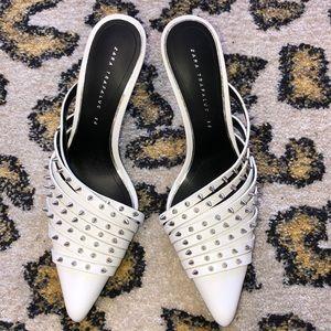 Zara Trafaluc heeled Studded Slides Size 38 NWOB